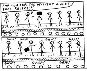 John King Black and White Cartoons 7